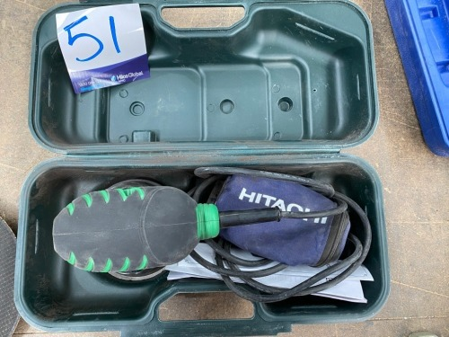 Hitachi Orbital Sander SV13A, 240 volt, in case