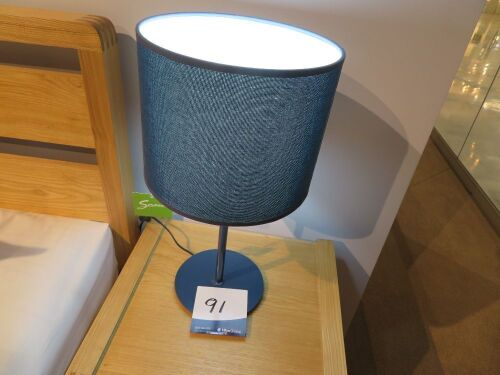 2 x Little White Side Lamps, colour: Navy, 500mm H
