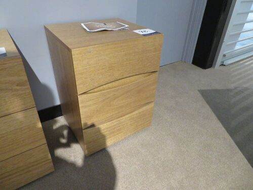 My Design Bedside Table, 3 Drawer, 450 x 450 x 600mm H