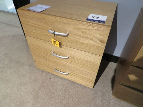My Design Bedside Table, Brush Chrome Handles, 600 x 450 x 600mm H