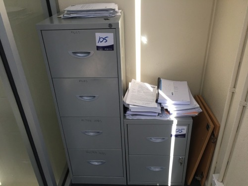4 Drawer Filing Cabinet & 2 Drawer Filing Cabinet