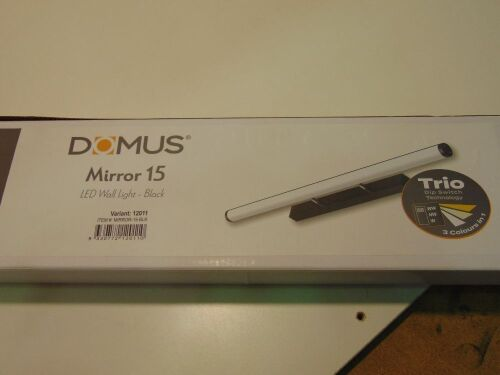 DOMUS 'Mirror 15' LED Wall Light - Black. 20Watt. 120 Degree Beam Angle
