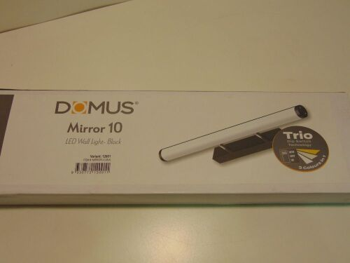 DOMUS 'Mirror 10' LED Wall Light - Black. 20Watt. 120 Degree Beam Angle