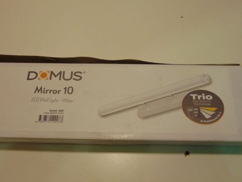 DOMUS 'Mirror 10' LED Wall Light - White. 20Watt. 120 Degree Beam Angle