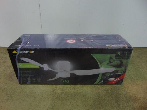 Mercator 'City' 1300mm Ceiling Fan with 12W LED Light - White