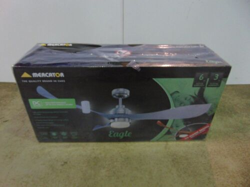 Mercator 'Eagle' 1400mm Ceiling Fan with 12W LED Light - Brushed Chrome
