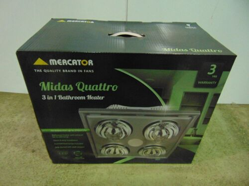 Mercator 'Midas Quattro' 3-In-1 Bathroom Heater - Silver