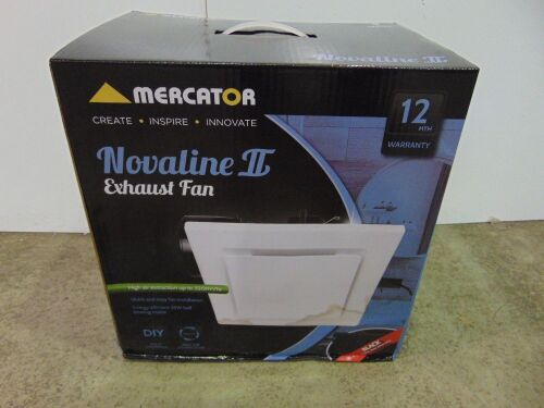 Mercator 'Novaline II' Exhaust Fan Square 290 - White Facia