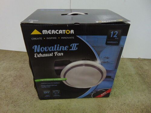 Mercator 'Novaline II' Exhaust Fan Round 290 - Silver Facia