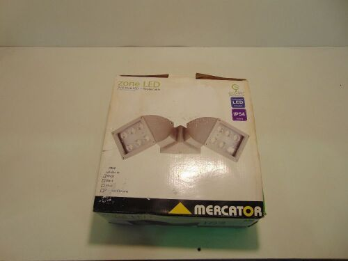 Mercator 'Zone' 2 x12W LED Eco-Lite Outdoor Floodlight - Beige