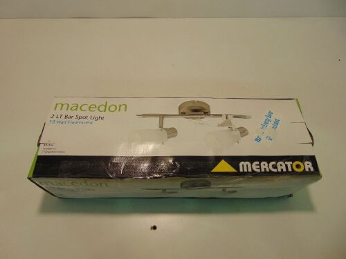Mercator 'Macedon' 2LT x 12W Fluorescent Bar Spotlight - Brushed Chrome