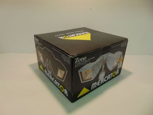Mercator 'Zone' Double 150W Halogen Exterior Light with Motion Sensor - Silver