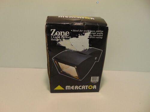 Mercator 'Zone' Single 150W Halogen Exterior Light - Black