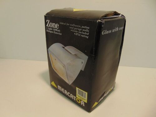 Mercator 'Zone' Single 150W Halogen Exterior Light - Beige