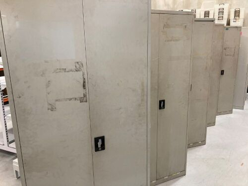 Quantity of 5 x Metal Cabinets