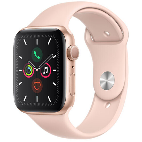 Apple Watch Series 5 44mm - Gold Aluminium Case - Pink Sand Sport Band