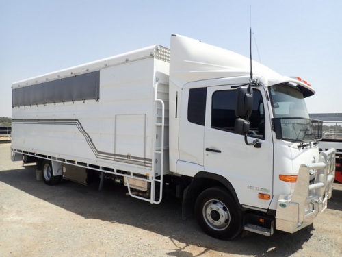 2016 UD Nissan MKII 250 Condor - 7 Horse/Cattle Transporter (Location: Haigslea, QLD)