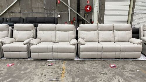 HAILEBURY 3 Seater Recliner + 2 Seater and Single Recliners