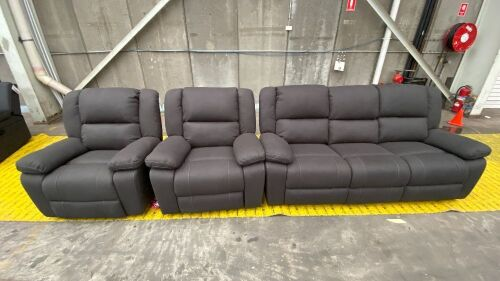 BARDO LOU Electric Reclining 3 Seater + 2x Single Electric Recliners