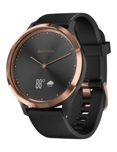 Garmin - Vivomove HR Sport Small/Medium - Rose Gold/Black