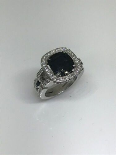 One Only 18ct White Gold Sapphire and Diamond Ring