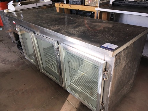 Stainless Steel Topped Fridge, 3 Door, with Shelf