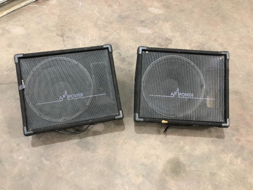2 x AM Power Wedge Speaker Boxes