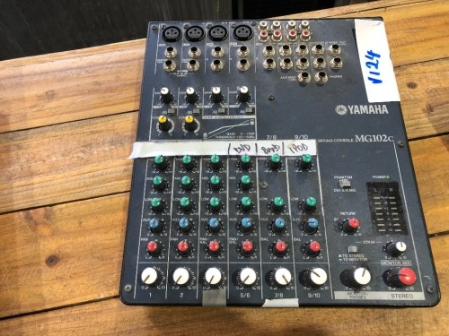 Yamaha Mixing Console, Model: MG102L, 10 Input Stereo Mixer with Compression