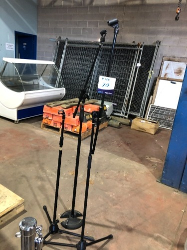 3 x Assorted Microphone Stands