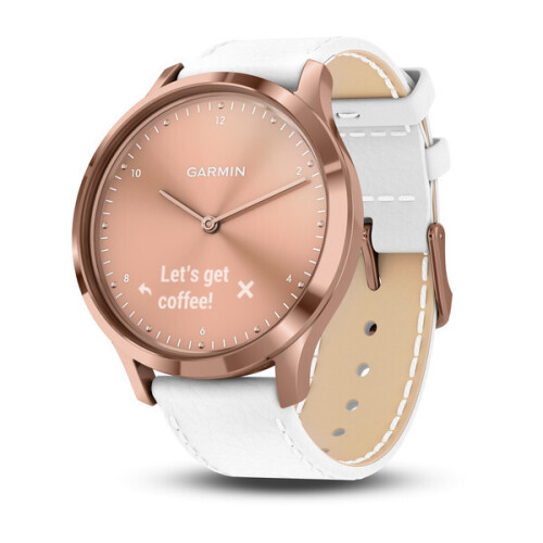 Garmin 010-01850-12 Vivomove HR Sport Rose Gold Sm/Med Hybrid Smartwatch