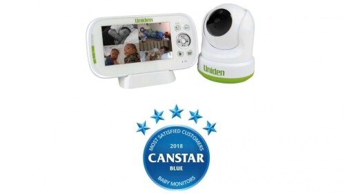 Uniden BW3451R 4.3`` Digital Wireless Baby Video Monitor - Pan & Tilt with remote viewing via Smartphone App