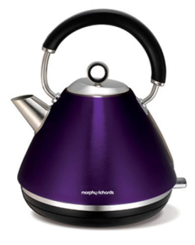 Morphy Richards Plum Accents Traditional Pyramid Kettle 1.5Litre - 102020