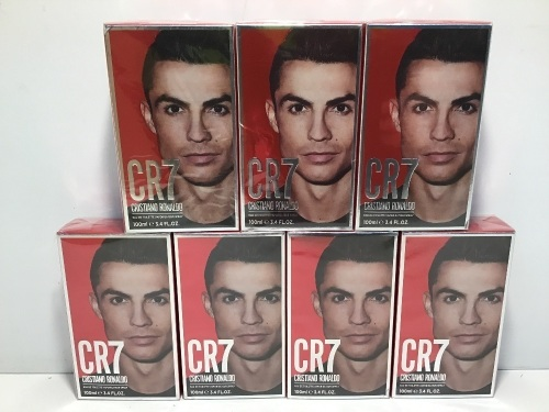 Bulk Pack - 7 x Cristiano Ronaldo CR7 Eau De Toilette 100ml Spray