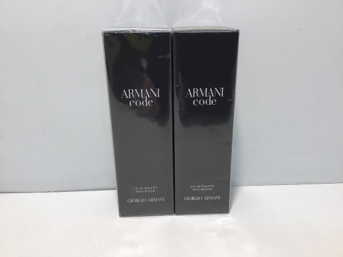 Twin Pack - 2 x Armani Code For Men 125ml Eau De Toilette Spray