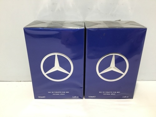 Twin Pack - 2 x Mercedes Benz Man Eau de Toilette 100ml Spray