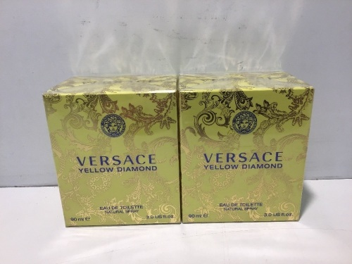 Twin Pack - 2 x Versace Yellow Diamond Eau de Toilette 90ml Spray
