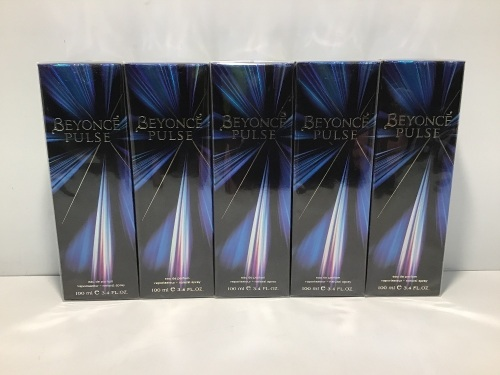 Bulk Pack - 5 x Beyonce Pulse Eau de Parfum 100ml Spray