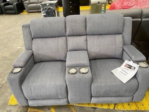 LEMAN Fabric 2 seater electric recliner Lounge - LAVA