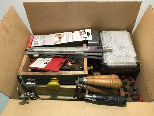 Box of Misc. Wood Working Tools