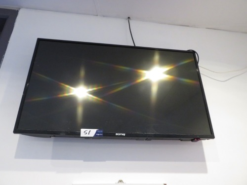 Soniq LCD Television with remote control (approx 110cm), wall mounted