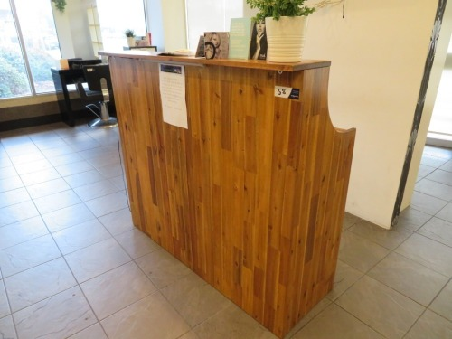 Timber Shop/Reception Counter, 2 Drawers & Storage Area, 1400 x 470 x 1220mm H