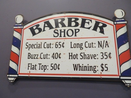 Chalil Board Price Board, 440 x 900mm & Barber Shop Old Display Sign, 370 x 320mm