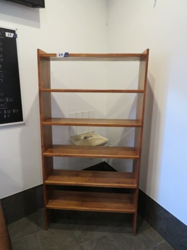 5 Tier Timber Shelf Unit