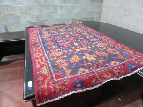 Persian Rug, KBCWGHZN, Red, Blue & Gold Persian Pure Wool Pile, 2110mm L x 1360mm W