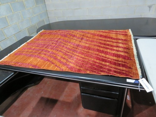 Persian Rug, KUKUK2D6, Red & Orange Afghan Pure Wool Pile, GABBEH, 1860mm L x 1300mm W
