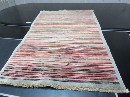 Persian Rug, KYD7UE4K, Multi Coloured Striped Afghanistan Pure Wool Pile GABBEH, 1420mm L x 920mm W