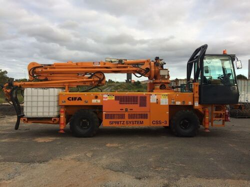 2013 CIFA Spritz System CCS-3 Truck-Mounted Sprayed Concrete Boom Pump, Only 133 Hours