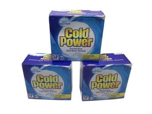 Carton of 3x ColdPower Advanced Clean Washing Powder